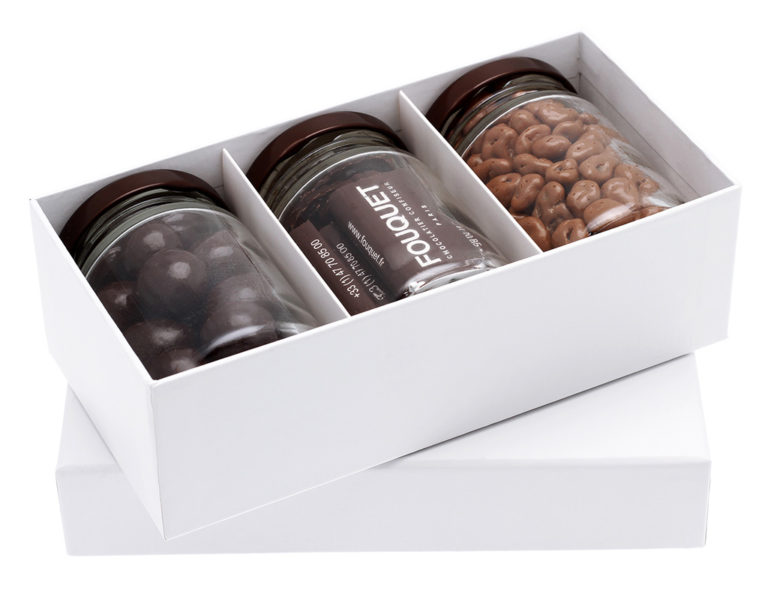 Coffret 3 pots choco - coffrets de chocolats - Paris confiseur Fouquet chocolatier