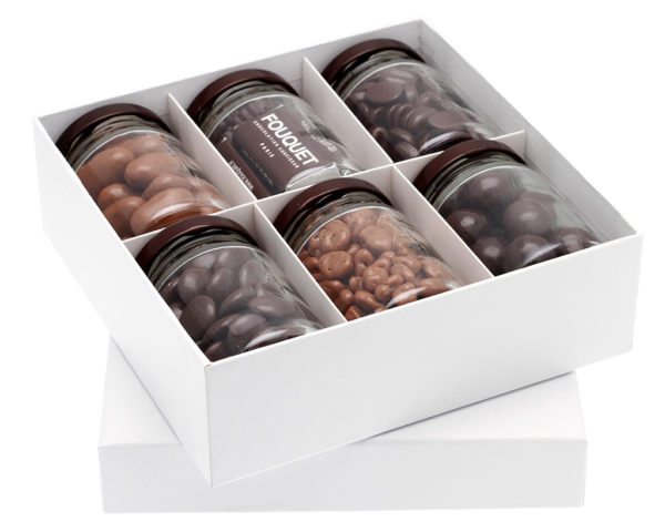 Coffret 6 pots choco - coffrets de chocolats - Paris confiseur Fouquet chocolatier