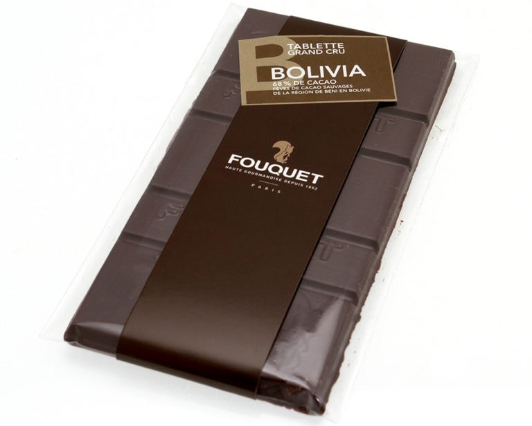Bolivia_noir_Tablette_chocolat_Fouquet - tablettes - Paris confiseur Fouquet chocolatier