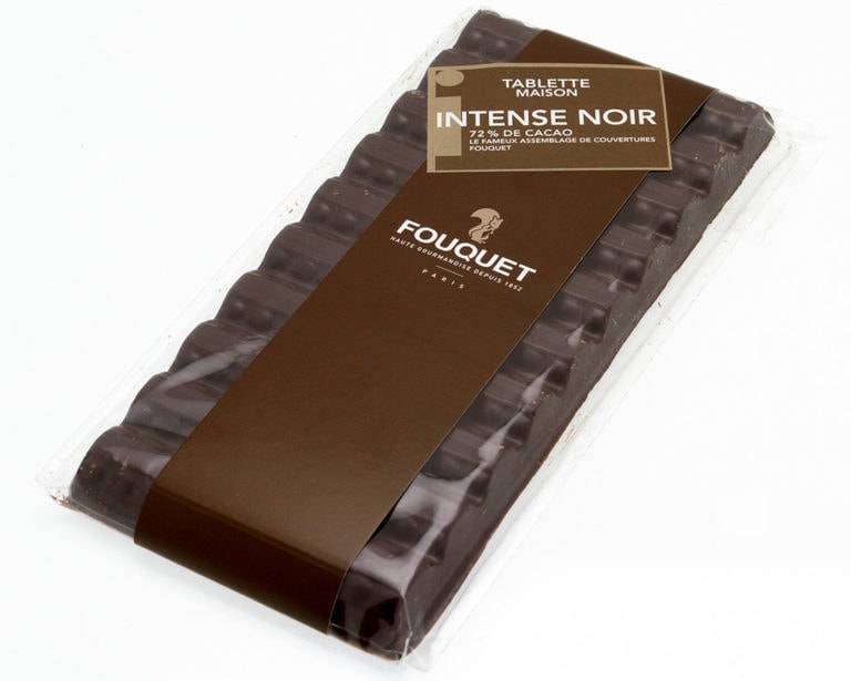 Intense_Noir_Tablette_Chocolat_Fouquet - tablettes - Paris confiseur Fouquet chocolatier