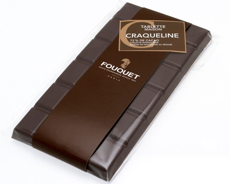 Tablette Craqueline Chocolat noir - tablettes - Paris confiseur Fouquet chocolatier