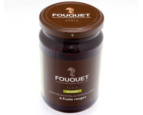 Confiture bio 4 fruits rouges - épicerie sucrée - Paris confiseur Fouquet chocolatier